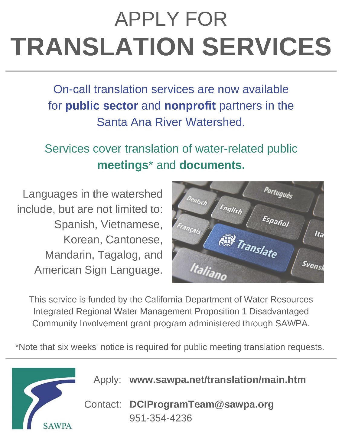 Translation Services Requests